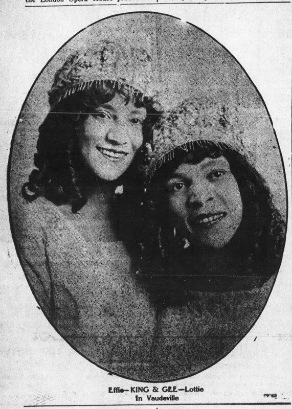 Lottie Gee and Effie King