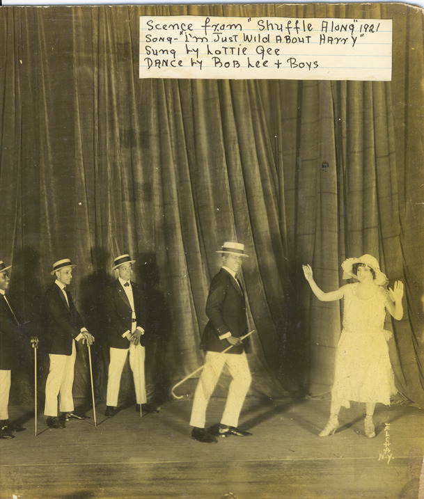 Lottie Gee and Bob Lee in the opening number of Act II of Shuffle Along